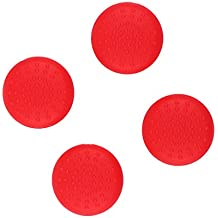 Rashi E-Commerce 2 Pairs Silicone Anti-slip Thumbsticks Caps Cover For Nintendo Switch Game Console Red