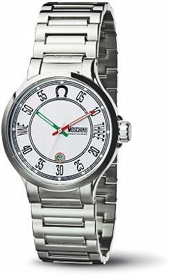 Moschino MW0061 - Reloj de caballero de cuarzo, correa de acero inoxidable color plata