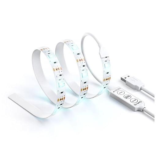 Satechi-striscia-a-LED-USB-kit-illuminazione-daccento-neon-RGB-LED-multicolore-per-Windows-XPVista7810-PC-Laptop-Desktop