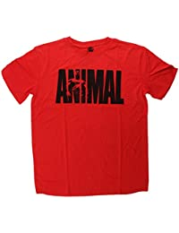 Universal nutrition animal iconic bodybuilding muscle t-shirt rouge taille s à xXL