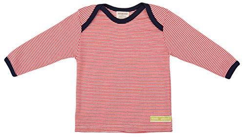 Loud + Proud Unisex - Baby Sweatshirt M101, Gestreift, Gr. 92 (Herstellergröße: 86/92), Rot (Tomato)