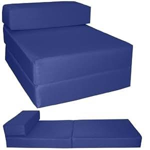 gilda lit d 39 invit bleu marine fresco chaise chauffeuse d plier lit d 39 appoint matelas pliable. Black Bedroom Furniture Sets. Home Design Ideas