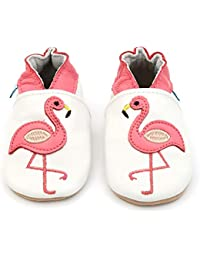 Dotty Fish Soft Leather Baby Shoe. 0-6 Months to 4-5 Years. Toddler Shoes. Non Slip. Pretty Bird, Owl, Giraffe, Butterfly and Cloud Designs for Girls.