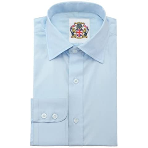 Janeo British Apparel Branded, The Classic London Plains Shirt; Single & Double Cuff Long Sleeve. Soft Masculine Office Wear; Classic Workwear Colours Pink,Sky,Mint,White,Black,Navy,Lavender or Peach