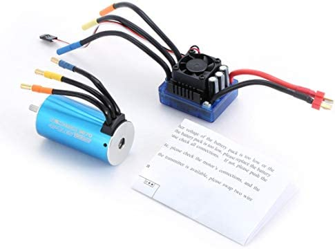 Monllack Sensorless Moteur brushless 3670 1900KV 4 pôles avec 120A 120A 120A électronique Speed Controller Combo Set pour 1/8 RC Voiture et Camion   Doux Et Léger  a1fd05