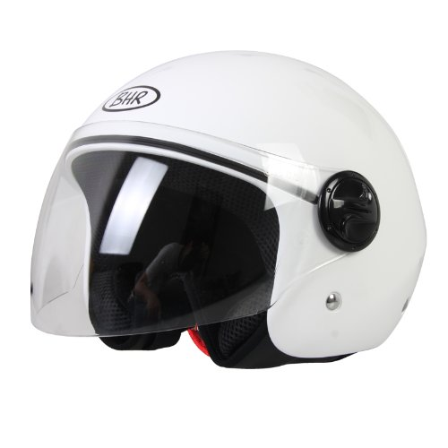 BHR 49899 Demi-Jet Casco, Color Blanco, Talla M, 57-58 cm