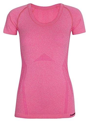 Hummel Eva T-shirt da donna senza cuciture Rosa rosa melange M/L
