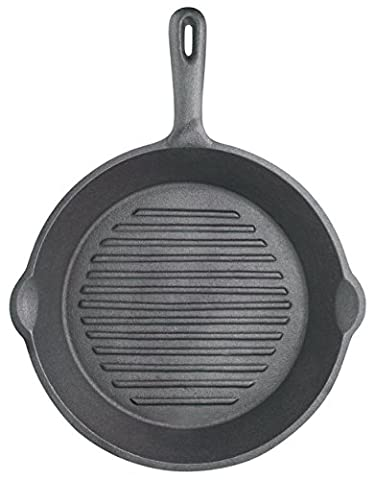 Kitchen Craft Clearview Grill Pan, Cast Iron 24cm