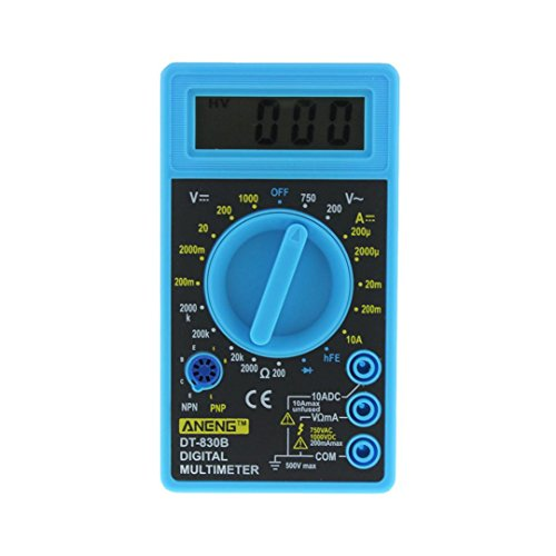 Multimeter Digital, Hunpta@ Digital LCD DT-830B Handmultimeter Volt Ampere Temperaturmessgerät (Blau)