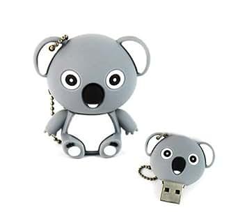 YooUSB Novelty Clé USB Modèle Koala de dessin animé Gris/bleu 8 Go