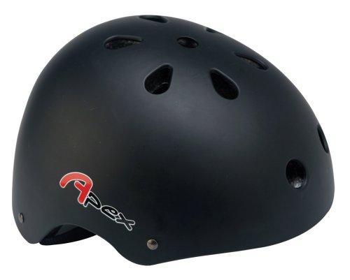 Apex BMX, Casco da skateboard, Nero opaco, 54-58cm