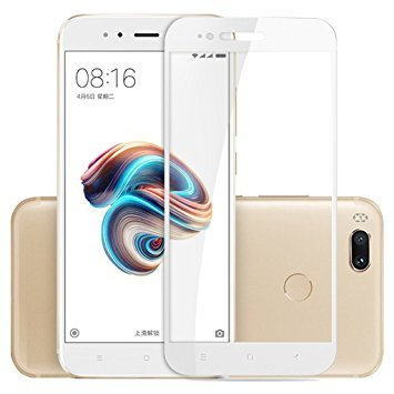 Xiaomi Redmi Mi A1 Mi A1 / Redmi A1 / Mi Redmi A1 / Xiaomi Redmi A1 / MiA1 / RedmiA1 / Xiaomi Mi A1 Android One YUNIK White Hard Armor Hybrid Gorilla Protection Tempered Glass 2.5D curved 3D Edge to Edge Full Screen Tempered Glass