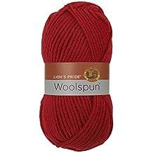 Lion Brand Yarn 80 Percent Acrylic 20 Percent Wool Lion's Pride Woolspun Yarn, Red