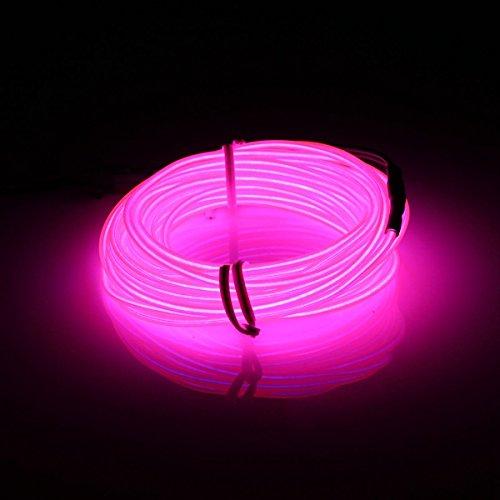 MASUNN 5 M El LED Flexible Suave Tubo De Neón Resplandor Coche Cuerda Franja Luz Navidad DecorACión...