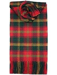 Bufanda de lana de cordero cepillada, diseño de tartán, larga, de primera calidad, disponible en selección de Tartans -