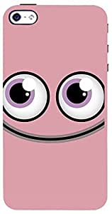 PrintVisa Cartoon Pink Smiley Case Cover for Apple iPhone 4