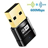 Amotus USB WiFi Adaptateur AC600 Mbps Mini Double Bande Wireless 5GHz 433Mbps/2.4GHz 150Mbps Sans fil Dongles 802.11ac Nano Wlan Stick Portatif Compatible avec PC Windows XP/Vista/7/8/10 Linux Mac OS
