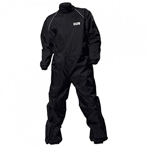 IXS Orca Evo Regenkombi, Farbe schwarz, Größe XL - Nylon-isolierte Jacke