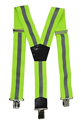 Bretelle alta visibilità con superficie riflettente, abbigliamento da lavoro - giallo (y-forma), 5cm