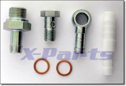 Preisvergleich Produktbild Anschluss Set für Benzinpumpe Bosch 040 + 044 Ring Nippel Hohlschraube Adapter