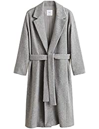 0e202928ed MANGO Women s Pleated Suit Pants 41020754 White · £52.95 · MANGO Women s  Belted Wool Coat 41040888 Grey