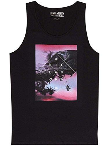 Billabong CROSS Abschnitt Tank T-Shirt Herren Black