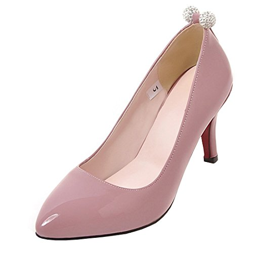Agodor Damen Spitze High Heels Pumps mit Strass und Stiletto Lack Elegant Arbeit Schuhe