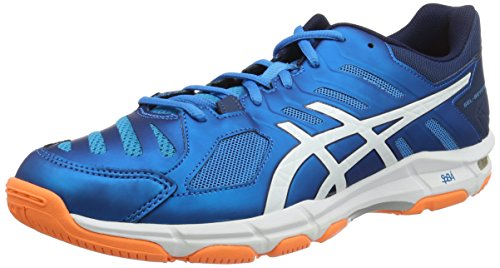Asics Gel-Beyond 5, Scarpe da Pallavolo Uomo, Blau (blue Jewel/white/hot Orange), 46.5 EU
