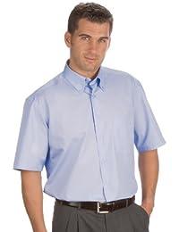 QUALITYSHIRTS Kurzarm Uni Hemd Button Down Gr. 39 - 54