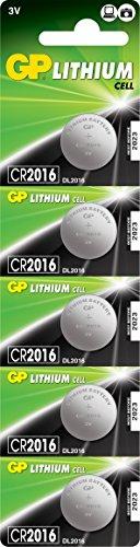 GP Lithium Pile 3V CR2016 - Lot de 5