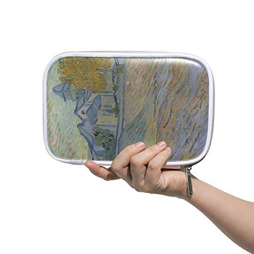 Land-malerei (Federmäppchen Halter Abstrakte Land Malerei Reißverschluss Bleistift Beutel Kosmetik Make-Up Pinsel Tasche Schreibwaren Stift Box Reisepass Multifunktions Organizer)