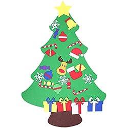99native DIY Filz Kleinkind Weihnachtsbaum, Min Stereoskopische Neujahr Kinder Geschenke Spielzeug Künstlichen Baum Weihnachten Home Dekoration (C)