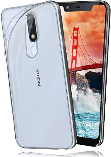 moex® Ultra-Clear Case [Vollständig Transparent] passend für Nokia 5.1 Plus | rutschfest und extrem dünn - Fast unsichtbar, Klar