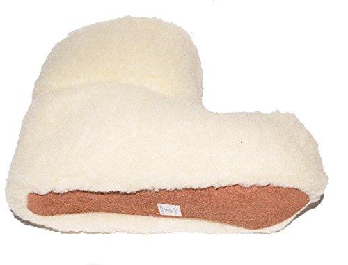 BTS-hüttenschuhe pour homme en laine et cuir véritable taille 42–46 Blanc - Blanc
