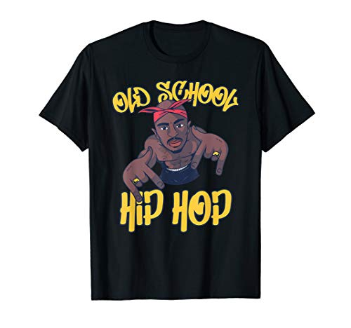 Old School Hip Hop Outfit Rapper Retro Geschenkideen (Old School Rap Kostüme)