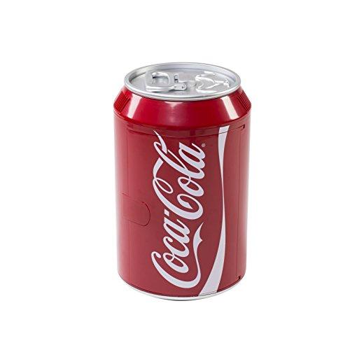 EZetil Coca-Cola Mini Kühlschrank Cool Can 10 in Getränkedosenoptik zum Kühlen und Wärmen von Getränken und Speisen, 12/230V - 9L mit Kühl- und Warmhaltefunktion, rot