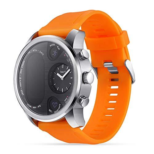 LGF Helmet Radfahren Wandern intelligente Armband Blutdruck-Herzfrequenz Monitor Fitness-Tracker-Outdoor-Übung Laufen männliche weibliche Erwachsene intelligente Band,Orange (Herzfrequenz-monitor Wandern)