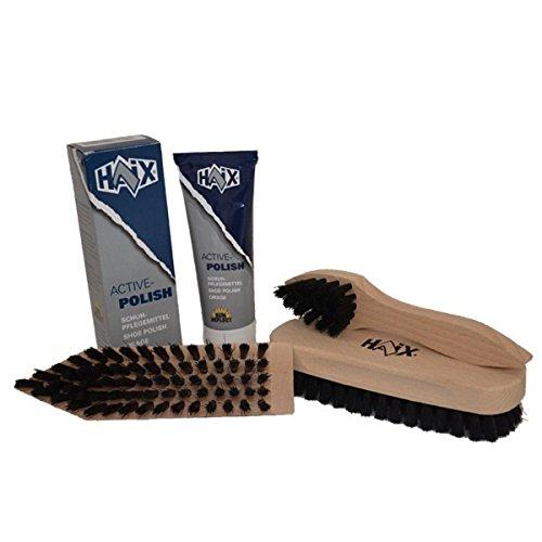 Haix Paket Bürstenset + Schuhcreme, Farbe:schwarz