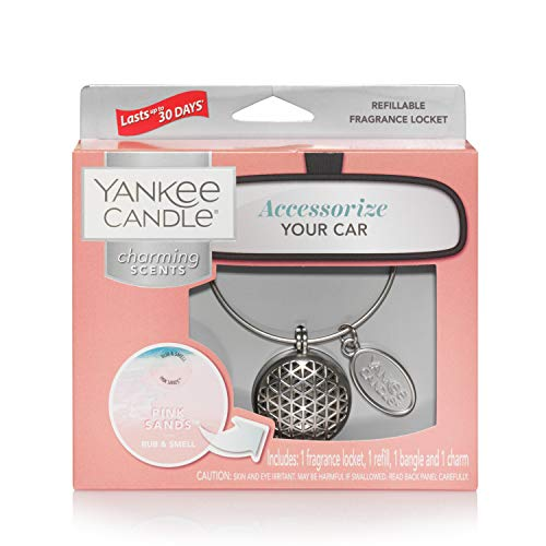 Yankee Candle Pink Sands Starter Kit geometr profumatore per Auto, Multicolore, Unica