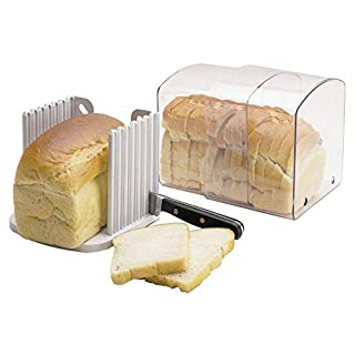 KitchenCraft Expanding Stay Fresh Bread Keeper, Bread Bin with Slicing Guide, Acrylic