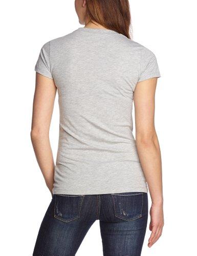Cross Jeans Damen T-Shirt 50397 Grau (Grey Melange)