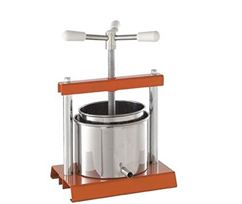 Cook Case by OMAC 360Pressoir, diamètre 12cm, acier, Stainless Steel, Orange