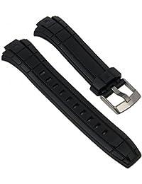 Repuesto banda reloj de pulsera plástico PU banda de negro compatible con Timex Ironman t5K791t5K790t5K792t5K793