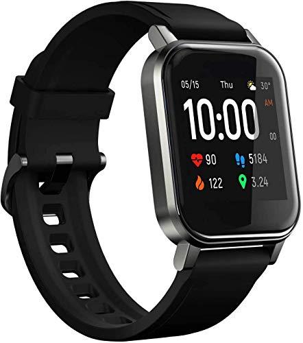 Oferta de HAYLOU LS02 Smartwatch, Pulsera de Actividad Inteligente Impermeable IP68, Pulsera de Actividad Inteligente con Monitor de Sueño Contador de Caloría Pulsómetros Podómetro para Android iOS