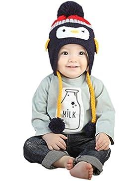 Babybekleidung Hüte & Mützen Longra Winter-Baby Kinder WCute Baby Kleinkind Mädchen Jungen Pinguin Pelzkugel gestrickt...