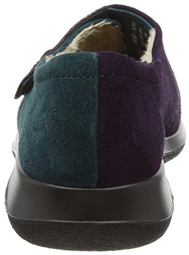 Hotter Damen Wrap Hausschuhe Multicolor (Plum / Teal)