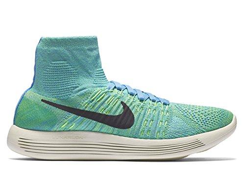 Nike Wmns Lunarepic Flyknit, Chaussures de Running Entrainement Femme Bleu - Azul (Unvrsty Blue / Blck-Vltg Grn-Sl)