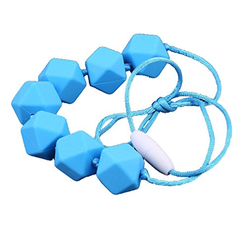 HENGSONG Silicone Teething Necklace for Babies with BPA-Free Beads 413W 2B 2BCEsiL