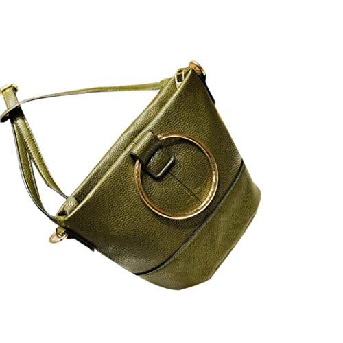 BZLine® Frauen Handtasche Brötchen Tasche Bucket Bag Messenger Umhängetasche Grün