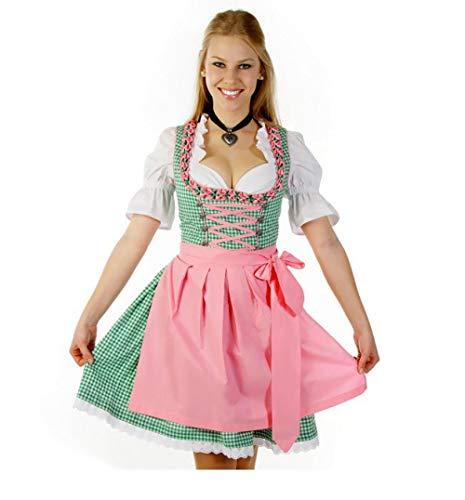Womens traditionelle deutsche bayerische Bier Mädchen Kostüm Sexy Oktoberfest Wench Party Kostüm@Grün_XXXL_Oktoberfest - Wench Womens Kostüm